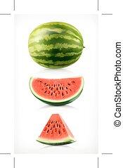 Watermelon, vector icons
