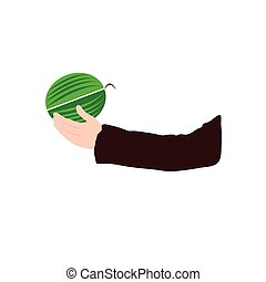 watermelon vector in hand illustration