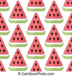 Watermelon vector seamless pattern
