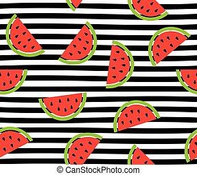 Watermelon - vector watermelon slices