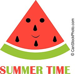 Watermelon - vector watermelon summer time