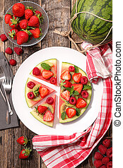 watermelon with berry fruit