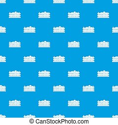 Watermelons in wooden crate pattern seamless blue