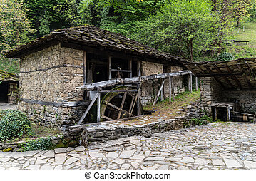 """Watermill building in architectural ethnographic complex """"Etar"""", the first one of this type in Bulgaria. It presents the Bulgarian customs, culture and craftsmanship from period of Ottoman Empire."""