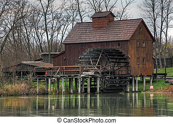 Watermill Jelka in Slovakia at autumn time