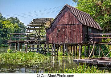 Watermill on Small Danube near the village Tomasikovo, Slovakia, Europe