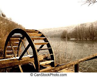 watermill, rueda