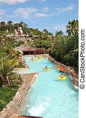 waterpark, 22, 公園, 島, ∥そうするかもしれない∥, 魅力, 最も大きい, -, tenerife, ...