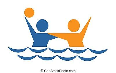 waterpolo, de, deportes, colección