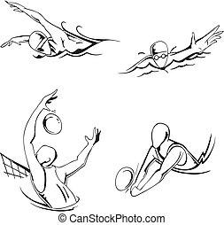 waterpolo, natación