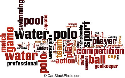waterpolo, palabra, nube