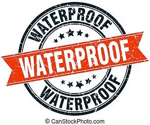 waterproof round grunge ribbon stamp