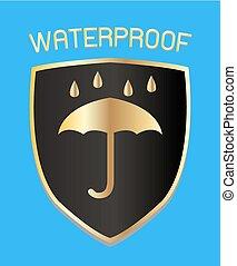 waterproof shield logo vector