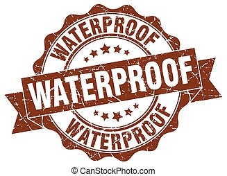waterproof stamp. sign. seal