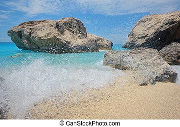 Ionian sea, near Agios Nikitas, Lefkada - Waters of Ionian ...