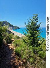 Waters of Ionian sea, near Agios Nikitas, Lefkada