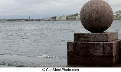 waterscape - view of the St. Petersburg Neva River. loop....