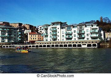 Waterside apartments in bristol UK
