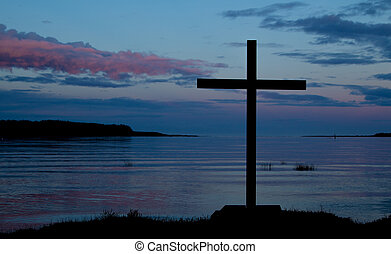 Waterside Dawn Cross