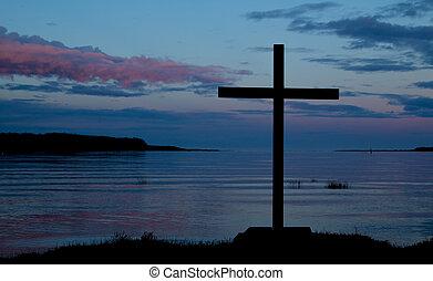 Waterside Dawn Cross