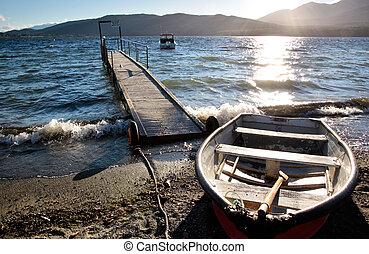 Waterside of Te Anau, Southland, South island, New Zealand