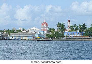 waterside scenery around Cienfuegos in Cuba, a island in the Caribbean Sea