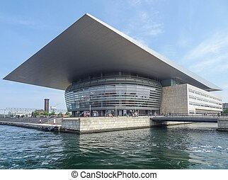 Copenhagen Opera House - waterside scenery with Copenhagen ...
