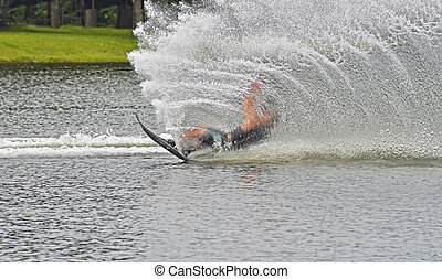 Waterskier Falling