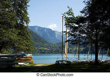 Watersports at Annecy lake