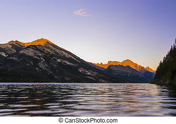 Waterton Lake at Sunset