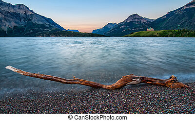 Waterton Lakes Log - Waterton Lakes National Park is a...