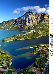 Waterton Lakes National Park Canada - Sweeping view over...