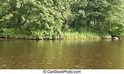 waterway river landscape view from a boat - waterway...