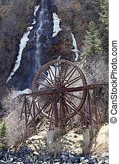 Waterwheel and Waterfall