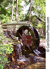 Waterwheel at Rock City, Lookout Mountain, Chattanooga, TN