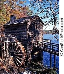 waterwheel, atlanta., lago