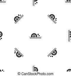 Waterwheel pattern seamless black - Waterwheel pattern...