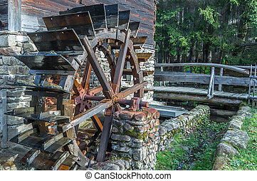 waterwheel - Old water wheel in the Bavarian forest germany