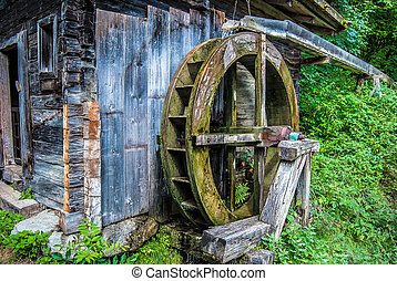 waterwheel - Old waterwheel in the mountains of Austria