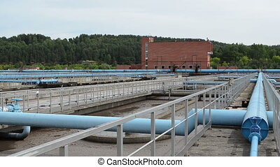 waterworks pools pipes - Panorama of water treatment...