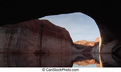 watery canyons on Lake Powell