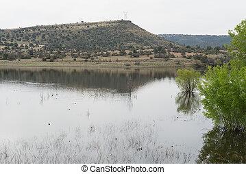 Watson Lake, Arizona - Watson Lake in the desert north of...