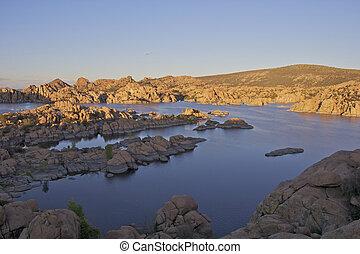 Watson lake Prescott Arizona - a scenic landscape of watson...