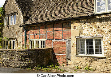 wattle and stone cottages , Lacock