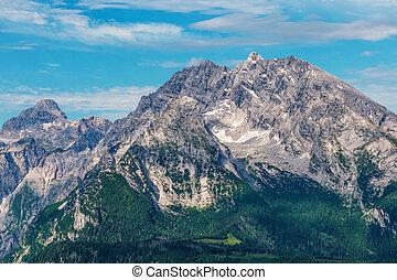 watzman, montagna, in, berchtesgaden, alpi, germania