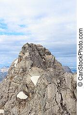 Watzmann Mittelspitze - View from the Hocheck towards the...
