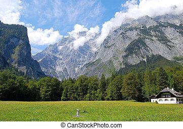 Watzmann near Berchtesgaden. The third highest mountain in...