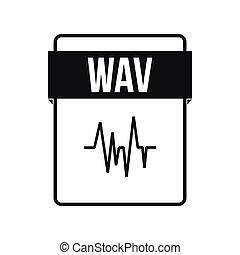 WAV file icon, simple style
