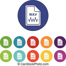 wav,  Set, bestand, iconen