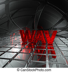wav tag in abstract futuristic space - 3d rendering